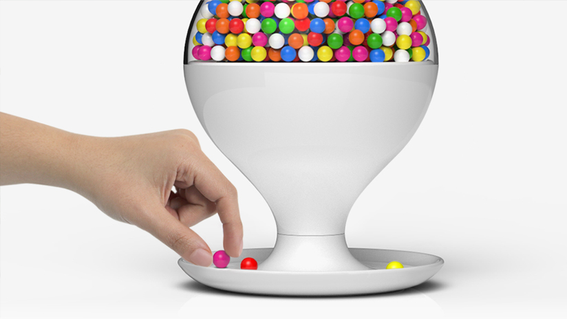 Emerson Motion Activated Candy Dispenser ~ Pip tompkin design los angeles california industrial
