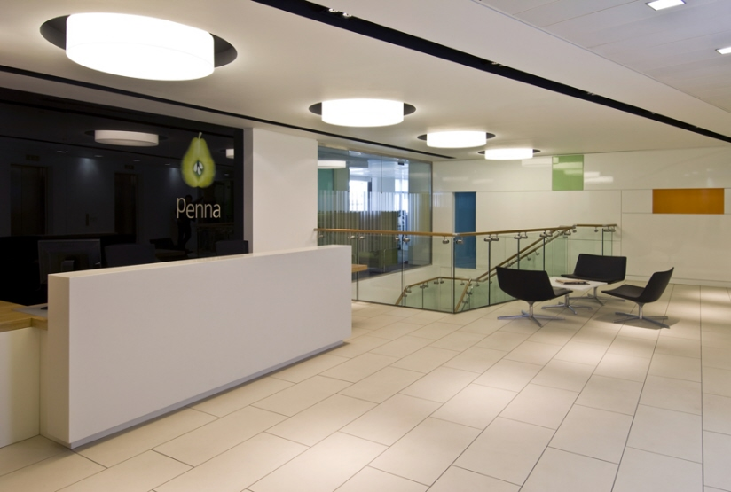 Mansfield monk ingatestone essex interior design for Modern office reception backdrop design