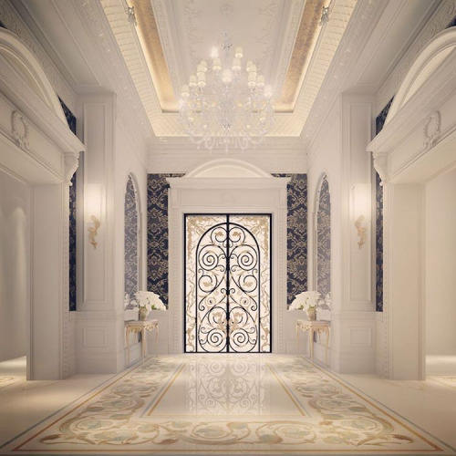 Ions design business bay dubai interior design for Villa lobby interior design