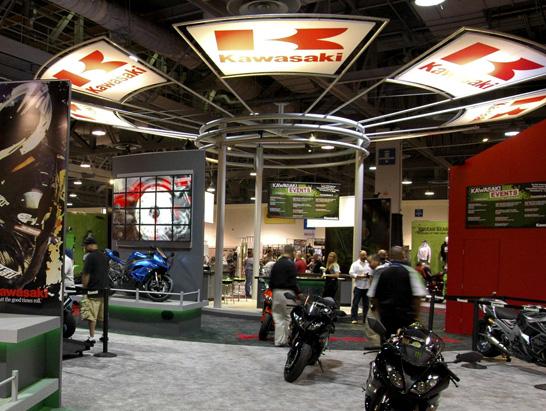Kawasaki Trades Show Booth