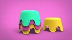 Squid Bath Stack Toy