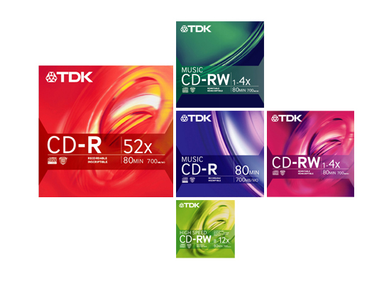 TDK Electronics Corp. CD-R/W Retail Packaging