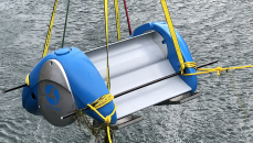 Hydroelectrical generator to harvest electricity from slow moving water.